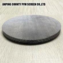 Cartouche de filtre de disques d'acier inoxydable frittée d'acier au nickel 304 de grillage