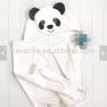 Baby towel with hood animal face panda personalized present big size
