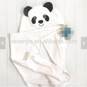 Serviette de bain avec capuche visage animal panda personnalisé grande taille