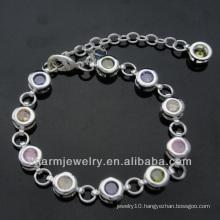 Fashion jewelry diamond chain bracelet silver plated bracelets BSS-004