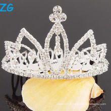 Fashion crystal wedding hair accessories peignes, peignes métalliques pour princesse, fantaisie de mariage peignes peignes