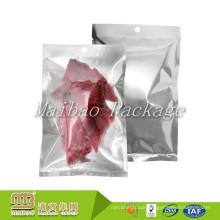 Food Grade Packing Customized Biodegradable Plastic Foil Heat Seal Vacuum Clear Beef Jerky Packaging Bags