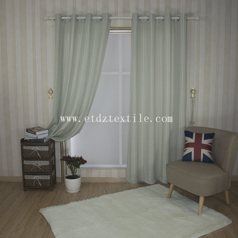 6010-52 2016 Modern Strip Pattern of Linen Touching Window Curtain Fabric