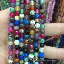 Perlas sueltas redondas facetadas naturales de la mezcla de Apatita del color de la mezcla de 6m m granos de la piedra preciosa de la piedra preciosa