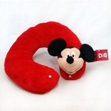 Mickey Head Plush Neck Pillow