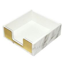 Porta-notas em mármore acrílico com ouro