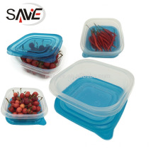 Eco-friendly PP Microwave food plastic container home kit 4PK,packaging plastic food container