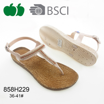 High Quality Latest Design Fashion Flat Lady Sandals