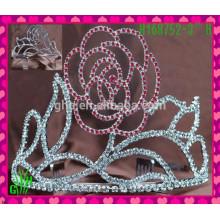 Nueva venta al por mayor del diseño, tiara de la boda del rhinestone, corona pascua una tiara