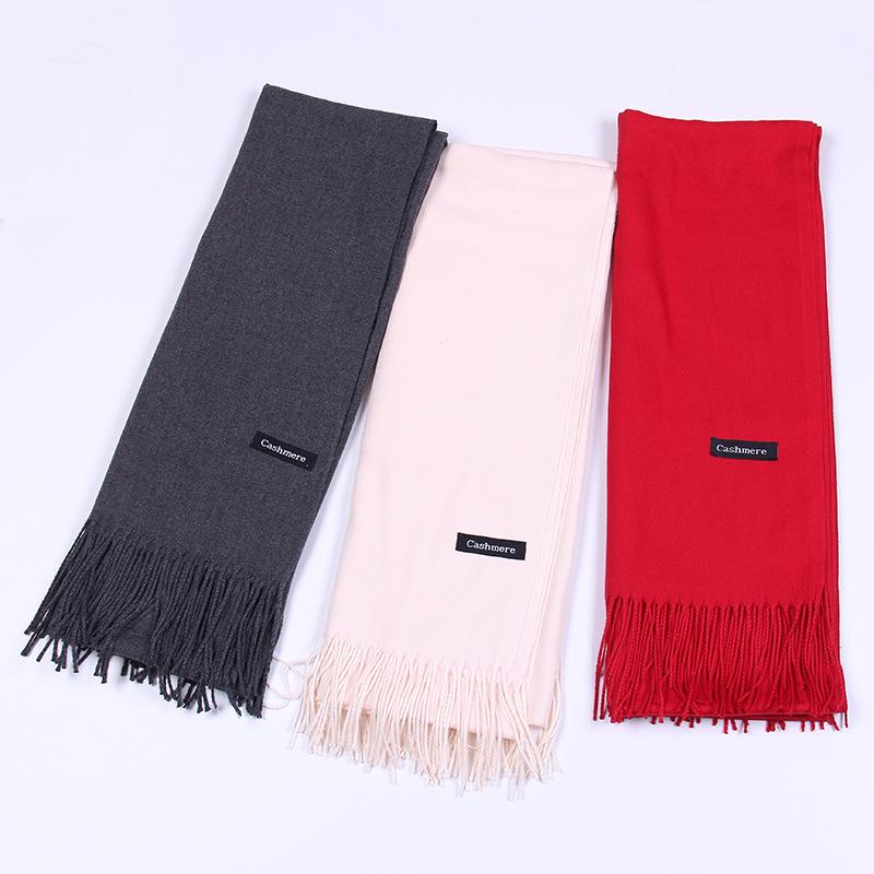 Pure color imitation cashmere scarf cashmere scarf (7)