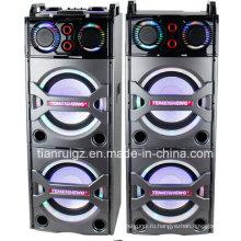 2X10inch большой мощности Профессиональный диктор 2.0 с Bluetooth и светодиодный свет E246
