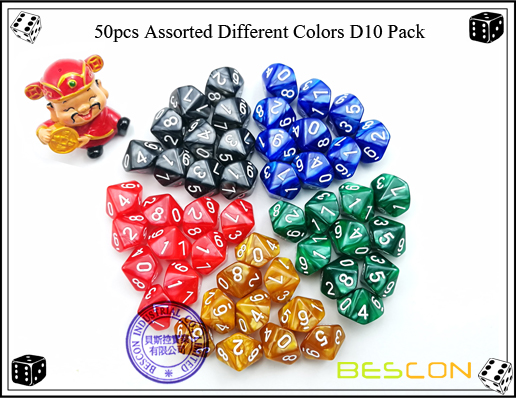 50pcs Assorted Different Colors D10 Pack-2