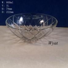 1liter Glass Bowl High Capacity Glass Tableware Glass Bowl Wholesale