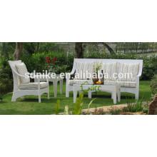 Luxus Möbel Sofa klassischen Outdoor Rattan / Korbmöbel weißen Sofa Möbel
