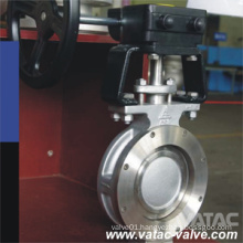 Double-Offset Double Flanged Stainless Steel Butterfly Valve