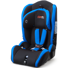 Child car seats with orange-blue cover