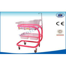 Infant Hospital Bed , Mobile Baby Cot With Four Flexible Ca