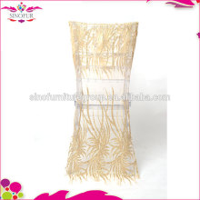 sinofur new design wedding sequin chair cover wholesale