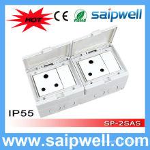 Interrupteur et prise électriques imperméables de haute qualité Saipwell avec approbation CE pour l'Afrique du Sud