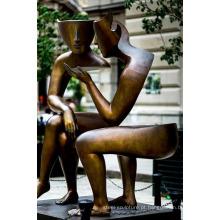 grande esculturas de ofício de cobre ao ar livre metal moderno abstrato para casa