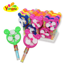 Plastic Kids Cute Round Fan Toy with Candy