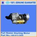 Запчасти Komatsu 6D105-1Z пусковой двигатель в сборе 600-813-3650 для электрических частей