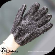 SRSAFETY черная химическая ПВХ рабочая перчатка