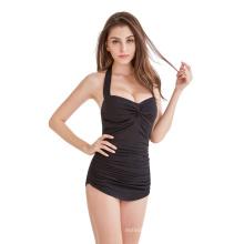 Traje de baño de las mujeres de la venta caliente EUR / US / UK código traje de baño de una pieza impreso traje de baño atractivo