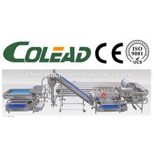 SUS304 arena de acero de tubería de lavado de esterilización máquina / Vegetales y frutas de esterilización de la máquina / hortalizas línea de procesamiento