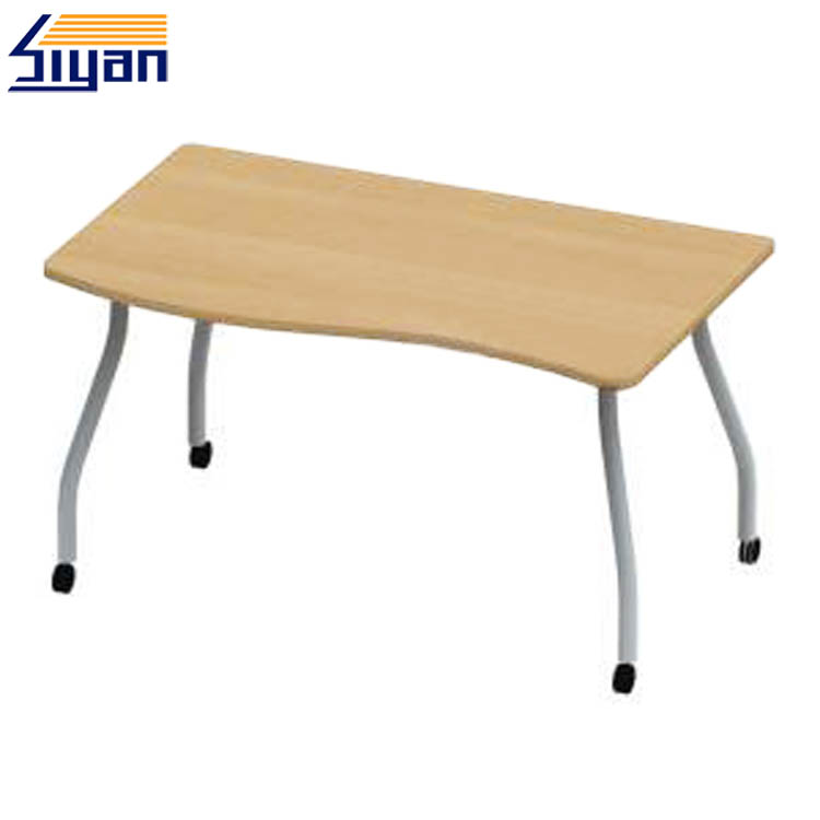 Folding computer desk table wooden tops