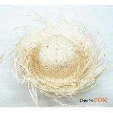 Various frayed edge beach straw hat cheap