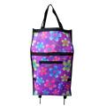 2014 Very Popular flower foldable Shopping Trolley Bag Popular For Supermarket