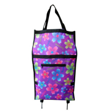 2014 Very Popular flower foldable Shopping Trolley Bag Popular For Supermarket