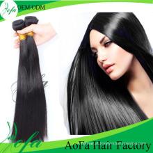Extensão reta do cabelo humano do cabelo virgem brasileiro barato do Virgin