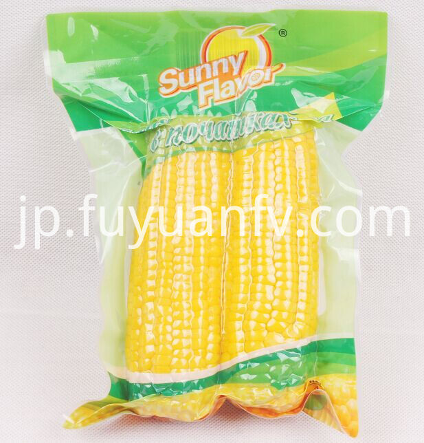 two corn packed on vacuumm