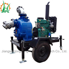 P Type Self-Priming Sewage Trash Dewatering Trailer Pump