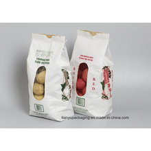 White Kraft Paper Bag with Colorful Window