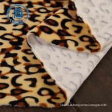 Tissu polaire 100% polyester imprimé animal fin