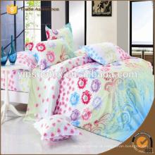 Cama de impressão reativa em saco Conjunto de cama de 4 peças