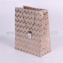 Brillo de diseño personalizado bolsas de papel de compras plegable