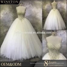 Vestido de boda de encargo de la lavanda de la fábrica caliente de la venta