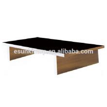 Стеклянная верхняя деревянная база журнальный столик деревянная ножка дешевый стеклянный журнальный столик