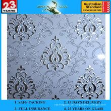 3-6mm Am-72 dekorative Säure geätzte Frosted Art Architekturspiegel
