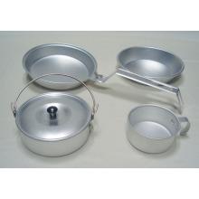 Juego de lío de cocina, utensilios de cocina de camping, utensilios de cocina de aluminio