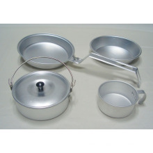 Cookset Mess Kit, utensílios de cozinha, panelas de alumínio