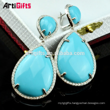 Wholesale jewelry pendant green cubic zirconia women earrings