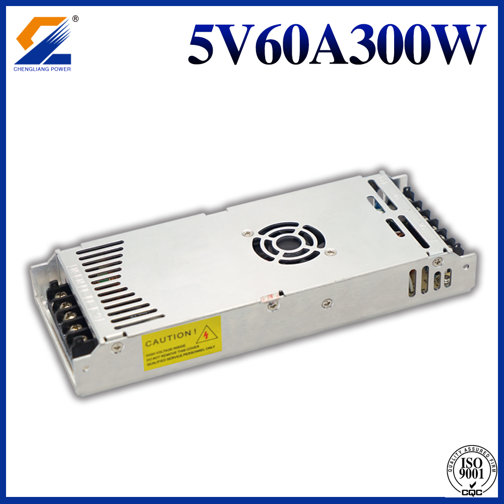 5V 60A 300W Slim Switching Power Supply untuk Modul LED