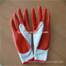 FURUNDA high quality rubber coated working cotton gloves