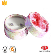 Boucle d'oreille de cylindre Boucle d'oreille Boîte de papier de bijoux