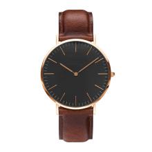 Часы Женская мода Watch 2016 Розовое золото Случайные кварцевые часы Кожаный ремешок Мужские часы Relogio Feminino Mas
